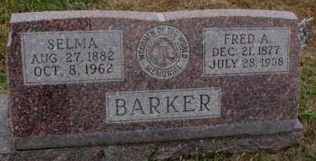 BARKER, SELMA - Cedar County, Nebraska | SELMA BARKER - Nebraska Gravestone Photos