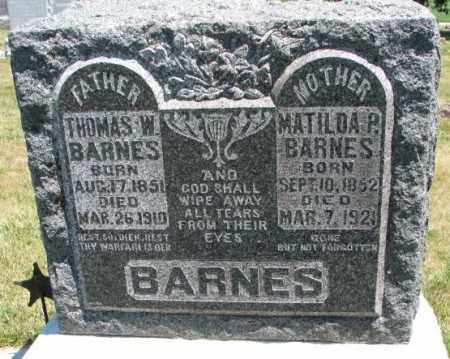 BARNES, MATILDA P. - Cedar County, Nebraska   MATILDA P. BARNES - Nebraska Gravestone Photos