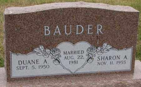 BAUDER, SHARON A. - Cedar County, Nebraska | SHARON A. BAUDER - Nebraska Gravestone Photos