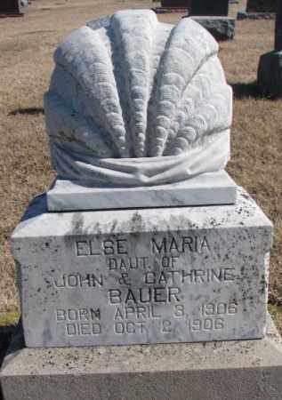 BAUER, ELSE MARIA - Cedar County, Nebraska | ELSE MARIA BAUER - Nebraska Gravestone Photos