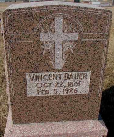 BAUER, VINCENT - Cedar County, Nebraska   VINCENT BAUER - Nebraska Gravestone Photos