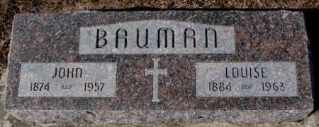 BAUMAN, LOUISE - Cedar County, Nebraska   LOUISE BAUMAN - Nebraska Gravestone Photos
