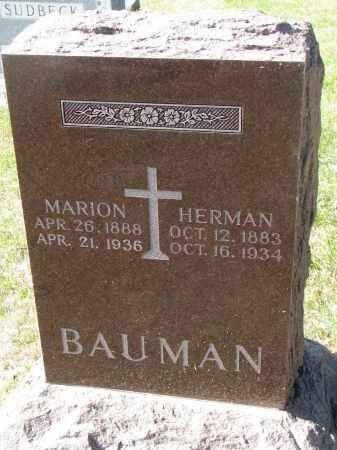 BAUMAN, HERMAN - Cedar County, Nebraska   HERMAN BAUMAN - Nebraska Gravestone Photos