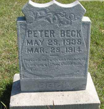BECK, PETER - Cedar County, Nebraska | PETER BECK - Nebraska Gravestone Photos