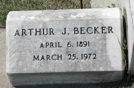 BECKER, ARTHUR J. - Cedar County, Nebraska | ARTHUR J. BECKER - Nebraska Gravestone Photos