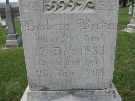 BECKER, BARBARA (CLOSEUP) - Cedar County, Nebraska | BARBARA (CLOSEUP) BECKER - Nebraska Gravestone Photos