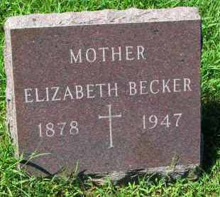 BECKER, ELIZABETH - Cedar County, Nebraska | ELIZABETH BECKER - Nebraska Gravestone Photos
