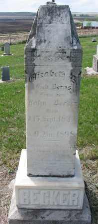 BECKER, ELIZABETH B. - Cedar County, Nebraska | ELIZABETH B. BECKER - Nebraska Gravestone Photos