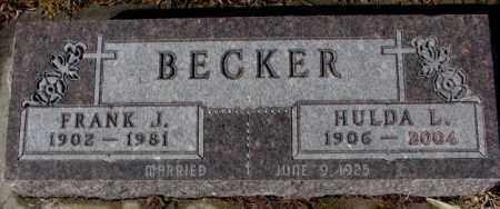 BECKER, FRANK J. - Cedar County, Nebraska   FRANK J. BECKER - Nebraska Gravestone Photos