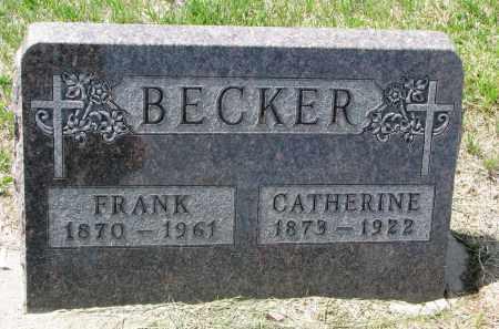BECKER, FRANK - Cedar County, Nebraska | FRANK BECKER - Nebraska Gravestone Photos