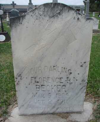 BECKER, FLORENCE H. - Cedar County, Nebraska | FLORENCE H. BECKER - Nebraska Gravestone Photos