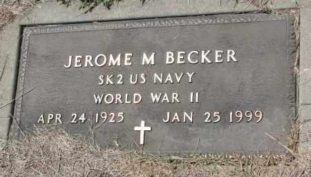 BECKER, JEROME M. (WW II) - Cedar County, Nebraska | JEROME M. (WW II) BECKER - Nebraska Gravestone Photos