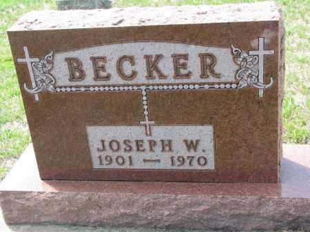 BECKER, JOSEPH W. - Cedar County, Nebraska | JOSEPH W. BECKER - Nebraska Gravestone Photos