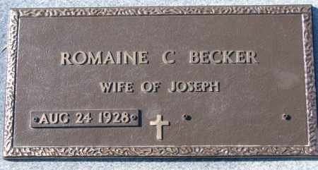 BECKER, ROMAINE C. - Cedar County, Nebraska | ROMAINE C. BECKER - Nebraska Gravestone Photos