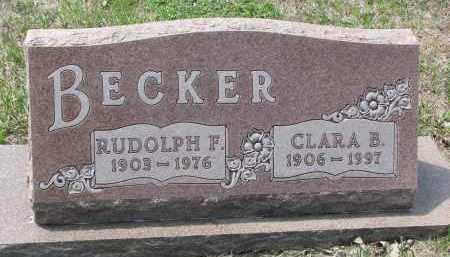 BECKER, CLARA B. - Cedar County, Nebraska | CLARA B. BECKER - Nebraska Gravestone Photos