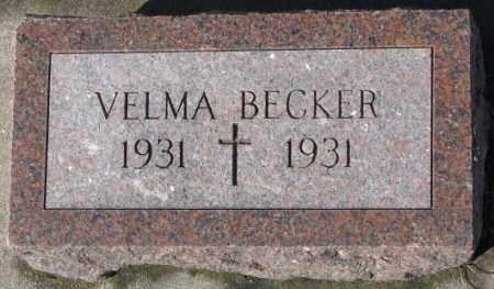BECKER, VELMA - Cedar County, Nebraska   VELMA BECKER - Nebraska Gravestone Photos