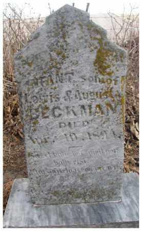 BECKMAN, INFANT SON - Cedar County, Nebraska | INFANT SON BECKMAN - Nebraska Gravestone Photos