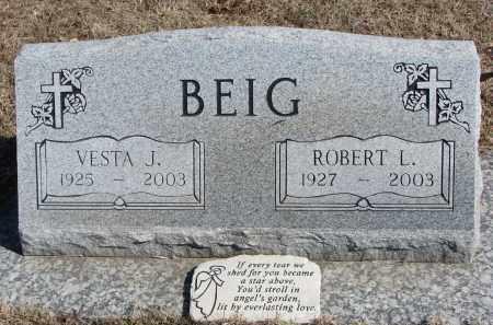 BEIG, ROBERT L. - Cedar County, Nebraska   ROBERT L. BEIG - Nebraska Gravestone Photos