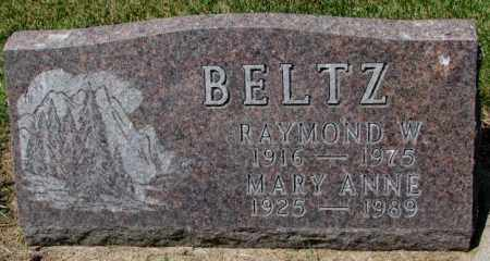 BELTZ, RAYMOND W. - Cedar County, Nebraska   RAYMOND W. BELTZ - Nebraska Gravestone Photos