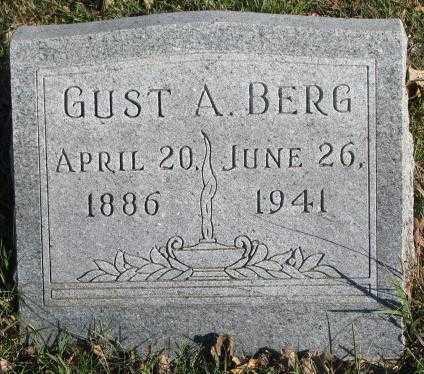 BERG, GUST A. - Cedar County, Nebraska | GUST A. BERG - Nebraska Gravestone Photos