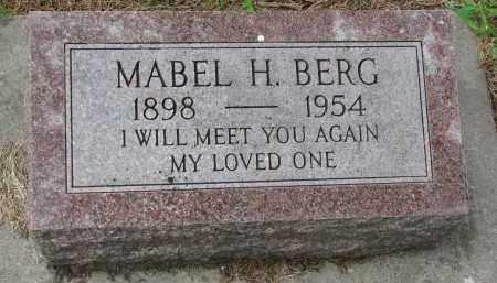 BERG, MABEL H. - Cedar County, Nebraska   MABEL H. BERG - Nebraska Gravestone Photos