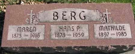 BERG, MAREN - Cedar County, Nebraska | MAREN BERG - Nebraska Gravestone Photos