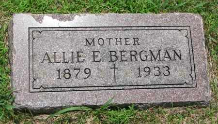 BERGMAN, ALLIE E. - Cedar County, Nebraska | ALLIE E. BERGMAN - Nebraska Gravestone Photos