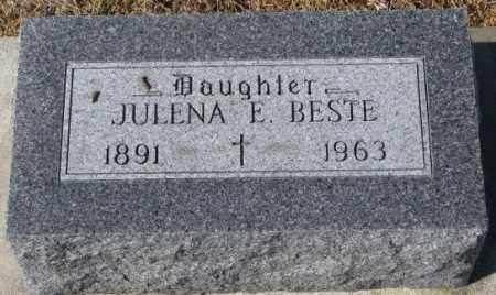 BESTE, JULENA E. - Cedar County, Nebraska | JULENA E. BESTE - Nebraska Gravestone Photos