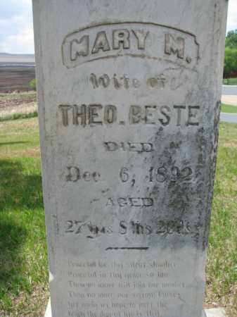 BESTE, MARY M. (CLOSEUP) - Cedar County, Nebraska | MARY M. (CLOSEUP) BESTE - Nebraska Gravestone Photos