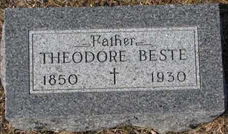 BESTE, THEODORE - Cedar County, Nebraska   THEODORE BESTE - Nebraska Gravestone Photos
