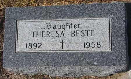 BESTE, THERESA - Cedar County, Nebraska   THERESA BESTE - Nebraska Gravestone Photos