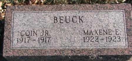 BEUCK, MAXENE E. - Cedar County, Nebraska | MAXENE E. BEUCK - Nebraska Gravestone Photos