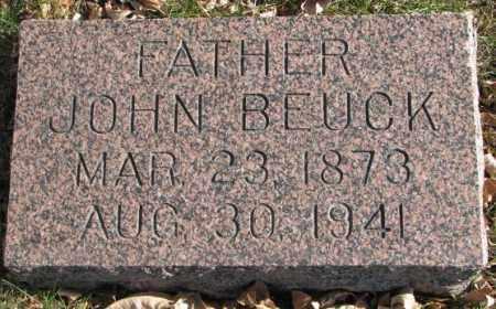 BEUCK, JOHN - Cedar County, Nebraska | JOHN BEUCK - Nebraska Gravestone Photos
