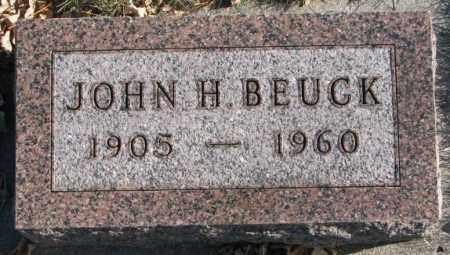 BEUCK, JOHN H. - Cedar County, Nebraska | JOHN H. BEUCK - Nebraska Gravestone Photos