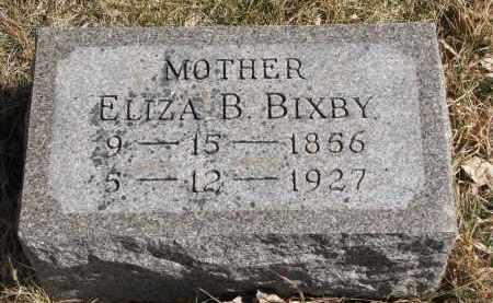 BIXBY, ELIZA B. - Cedar County, Nebraska   ELIZA B. BIXBY - Nebraska Gravestone Photos