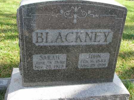 BLACKNEY, SARAH - Cedar County, Nebraska   SARAH BLACKNEY - Nebraska Gravestone Photos