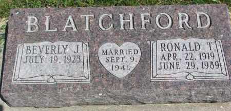 BLATCHFORD, RONALD T. - Cedar County, Nebraska | RONALD T. BLATCHFORD - Nebraska Gravestone Photos