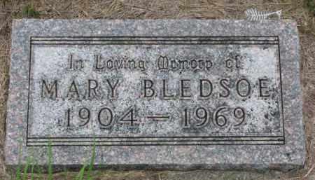 BLEDSOE, MARY - Cedar County, Nebraska | MARY BLEDSOE - Nebraska Gravestone Photos