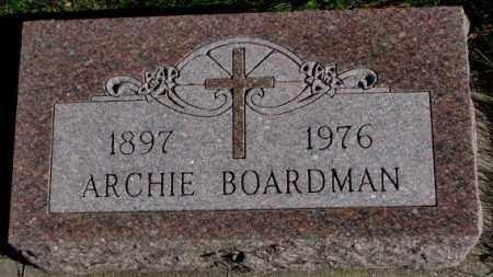 BOARDMAN, ARCHIE - Cedar County, Nebraska | ARCHIE BOARDMAN - Nebraska Gravestone Photos