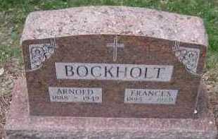 BOCKHOLT, FRANCES - Cedar County, Nebraska | FRANCES BOCKHOLT - Nebraska Gravestone Photos