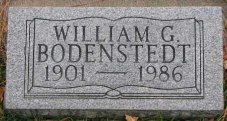 BODENSTEDT, WILLIAM G. - Cedar County, Nebraska | WILLIAM G. BODENSTEDT - Nebraska Gravestone Photos