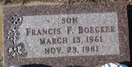 BOECKER, FRANCIS F. - Cedar County, Nebraska | FRANCIS F. BOECKER - Nebraska Gravestone Photos