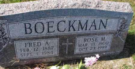 BOECKMAN, FRED A. - Cedar County, Nebraska | FRED A. BOECKMAN - Nebraska Gravestone Photos