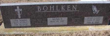 BOHLKEN, LISA MARIE - Cedar County, Nebraska | LISA MARIE BOHLKEN - Nebraska Gravestone Photos