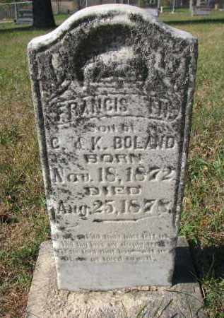 BOLAND, FRANCIS T.H. - Cedar County, Nebraska | FRANCIS T.H. BOLAND - Nebraska Gravestone Photos