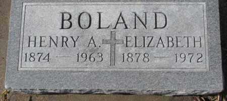 BOLAND, ELIZABETH - Cedar County, Nebraska | ELIZABETH BOLAND - Nebraska Gravestone Photos