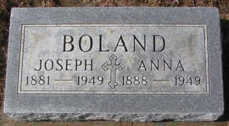 BOLAND, ANNA - Cedar County, Nebraska | ANNA BOLAND - Nebraska Gravestone Photos