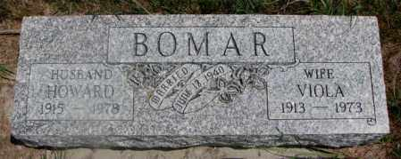 BOMAR, HOWARD - Cedar County, Nebraska | HOWARD BOMAR - Nebraska Gravestone Photos