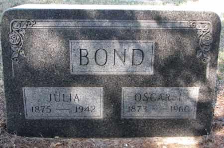BOND, JULIA - Cedar County, Nebraska | JULIA BOND - Nebraska Gravestone Photos