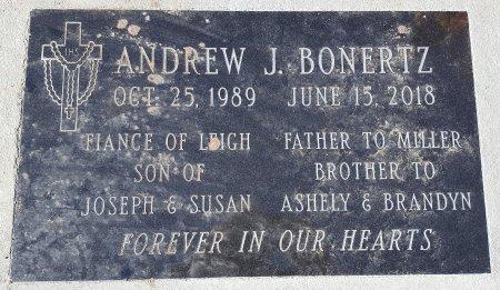 BONERTZ, ANDREW J. - Cedar County, Nebraska | ANDREW J. BONERTZ - Nebraska Gravestone Photos